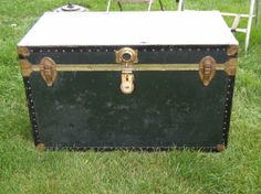 - Large Vintage Chest Trunk - PICKUP ONLY TomeTraders.com