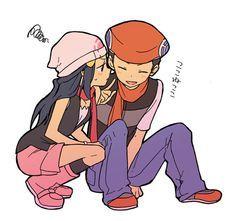 Dawn Pokemon, Pokemon Lucas And Hikari, Couples Animee Manga, Videos Games, Pokemon Trainers, Couples Animal Manga, Lucas Kouki, Cutest Couples