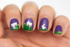 Slashed Beauty | The Cutest Spring Nail Art Ever