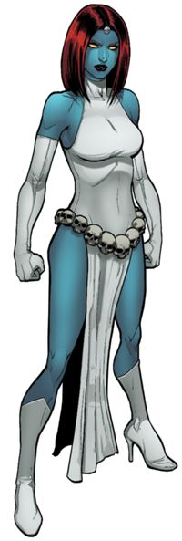 Raven Darkholme (Earth-616) - Mystique has all sorts of costumes; you can find what ever you feel like cosplaying