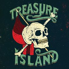 """""""I had the pleasure of working with @annabookdesign at Puffin Classics for the reissue of Treasure Island. This is a detailed look at the cover…""""by Jon Contino"""