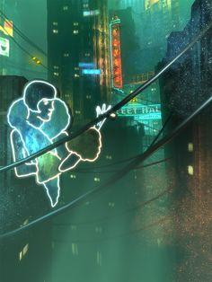 ArtStation - BioShock (Irrational Games), Digital Frontiers Bioshock Series, Big Tree, Water Tank, Art Direction, Irrational Games, Lighthouse, Storytelling, Haha, Neon Signs