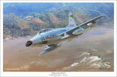 """Edge of the Sword"" F-100D Super Sabre Vietnam by Mark Karvon"