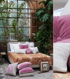 I LOVE the plants and the windows behind the bed. So gorgeous, like sleeping in a greenhouse.