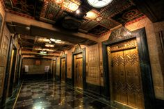 Art Deco Elevator Hallway, City Hall