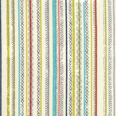 Moda - Gardenn Project by Tim and Beck Stitched Stripe in Cloud 39554-11 by the Yard by SewPerfectlyVintage on Etsy