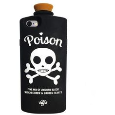Poison 3D iPhone 6+/6S Plus Case (Black) (€31) ❤ liked on Polyvore featuring accessories, tech accessories, phone cases, cases, phones and fillers