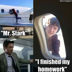Hahah Peter got his homework done. Aunt May said he could go out and play :)