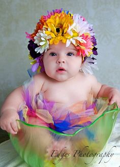 Spring Flower Bonnet with Matching Tutu and by BuggabooBoutique, $47.99