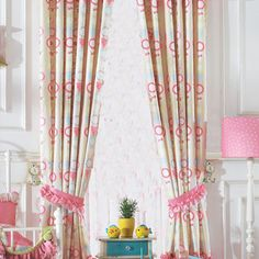Lace window curtains can decorate your room. The pink is very soft material of this curtain has a good tactile impression. The laces decorate this curtain and at the same time, it decorates your life. Pink Bedroom For Girls, Pink Bedrooms, Lace Window, Window Curtains, Floral Curtains, Decorate Your Room, Pink Girl, Pink White, Printing On Fabric