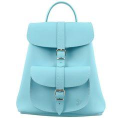 Grafea Teddy Light Blue Baby Leather Rucksack
