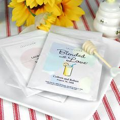 Personalized Lemonade Wedding Favors -How Southern and Cute! #Weddings