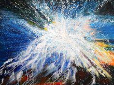 "Maiden's Bluff Contemporary Abstract Seascape Painting ""Maiden's Bluff"" by International Contemporary Seascape Artist Arrachme"