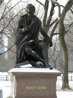 Central Park New York City: Robert Burns Statue