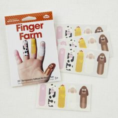 Tattoo Finger Puppets (Farm)  | The Land of Nod -- birthday parties at the Center for Puppetry Arts, Atlanta, GA