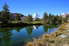 Grindjsee, Zermatt, Schweiz ©swissmountainview.ch Zermatt, Big And Beautiful, Switzerland, Places, Nature, Travel, Mountain, Naturaleza, Viajes