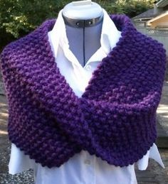 Free Knitting Pattern for Quick Slouchy Cowl