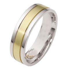 Two Tone Wedding Bands Collection ST2TONE-09-14K