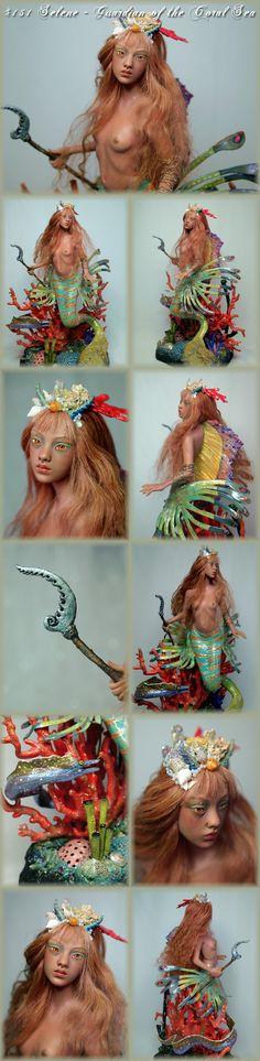 mermaid ooak doll by nenufar-blanco.com