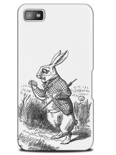 Vintage Alice in Wonderland Sketch Art Case Cover Design for Blackberry