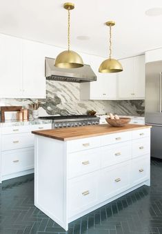 Designing Brick Kitchens for Your Style Home   Fireclay Tile Brick Flooring, Kitchen Flooring, Kitchen Dining, Kitchen Decor, Kitchen Ideas, Brick Tiles, Flooring Ideas, Rustic Kitchen, Kitchen Backsplash