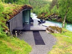 Photo 8 of 8 in Rustic Cabins Comprise This Impossibly Idyllic Hotel in Norway - Dwell Trailer Casa, Glass Cabin, Vejle, Spa Hotel, Underground Homes, Earthship, Modern Architecture, Norway, House Design