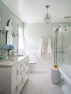 Amazing shower features walls clad in corian sheets to mimic shiplap lined with a waterworks - Bathroom makeover practical refreshing ideas ...