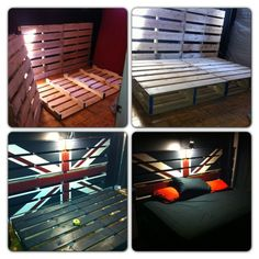 Turned new pallets into this. - Imgur