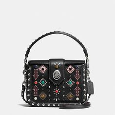 Page Crossbody in Glovetanned Leather With All Over Western Rivets