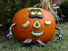A different way to decorate a pumpkin.