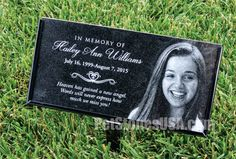 Personalized Human Stone Memorial Engraved Marker by PetStonesUSA