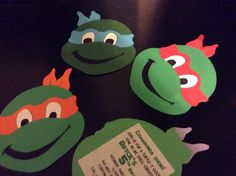 For Bryce's 5th birthday he wants a ninja turtle theme... His aunt Mary Grace made this cool invitation for him.
