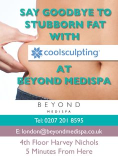 Tube Advertising - Beyond MediSpa Underground Campaign Out Of Home Advertising, Advertising Campaign, New Press, Cool Sculpting, Beauty Companies, Stubborn Fat, London Underground, Press Release, Tube