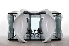 zaha hadid architects installs 3D-printed alis pavilion at venice architecture biennale Parametric Architecture, Urban Architecture, Engineering Consulting, Modular Structure, Cad Cam, Glass Cube, Zaha Hadid Architects, Venice Biennale, Modular Design