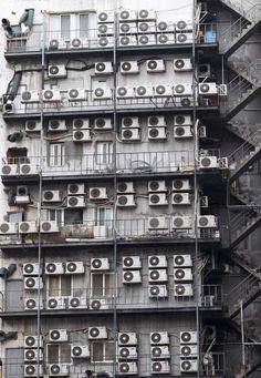 fachada de un edificio de Seúl, Corea del Sur