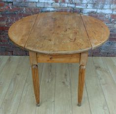 French Antique Drop Leaf Table 19th Century