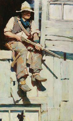 Frank Schoonover (1877–1972) (1877-1972) Title   Hopalong Takes Command