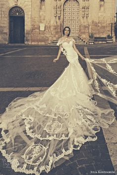 Julia Kontogruni Fall 2015 #Wedding Dresses | Wedding Inspirasi #weddingdress #bridal #weddings #weddinggown