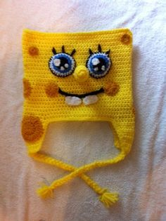 Crochet Spongebob Squarepants inspired Beanie/hat