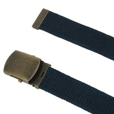 CTM Cotton Web 1.5 Inch Adjustable Military Buckle Belt, Black Made by #CTM Color #Black. Vintage Style Military Belt by CTM�. Cotton Web Fabric. Antiqued brass buckle and tip. Adjustable to 48 inches. Can cut to fit