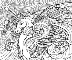 Detailed Unicorn Coloring Pages For Adults 4