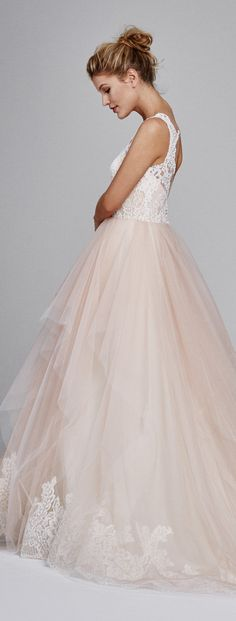 Blush Wedding Dress by Kelly Faetanini Fall 2017