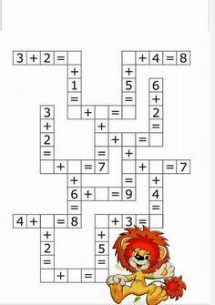 Mental Maths Worksheets, 1st Grade Worksheets, Maths Puzzles, 2nd Grade Math, Worksheets For Kids, Preschool Math, Kindergarten Math, Math Activities, Math For Kids
