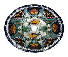 Talavera Mexican Hand Painted Sink-One in stock ready to ship!