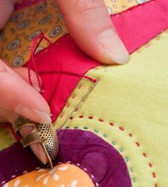 Hand quilting tutorial by Sarah Fielke