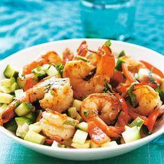 Pittige garnalen met avocado #lowcarb #shrimp #avocado