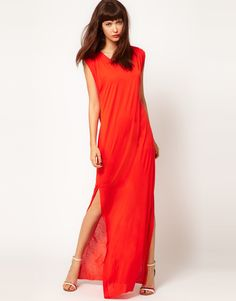Gorgeous color for you and love the slit.