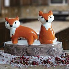 Fox Salt & Pepper Shaker Set