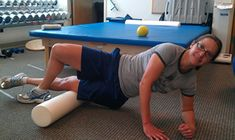 Foam roller for muscle recovery. Temporary pain means it is working!