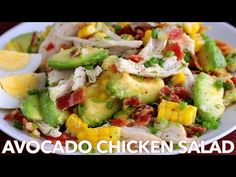 Salads: Tasty Avocado Chicken Salad Recipe - YouTube